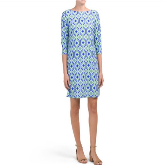 NWT Jude Connally Marlowe Printed Dress trellis